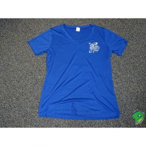 Strictly T shiirt Women V neck royal blue